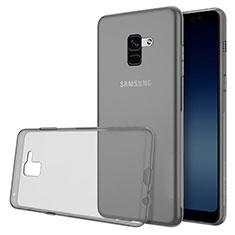 Coque Ultra Slim Silicone Souple Transparente pour Samsung Galaxy A8 (2018) A530F Gris