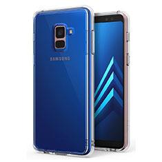 Coque Ultra Slim Silicone Souple Transparente pour Samsung Galaxy A8+ A8 Plus (2018) A730F Clair
