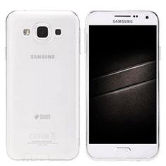 Coque Ultra Slim Silicone Souple Transparente pour Samsung Galaxy E5 SM-E500F E500H Clair