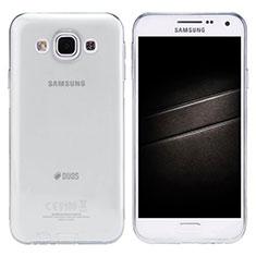 Coque Ultra Slim Silicone Souple Transparente pour Samsung Galaxy E5 SM-E500F E500H Gris