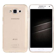 Coque Ultra Slim Silicone Souple Transparente pour Samsung Galaxy E7 SM-E700 E7000 Or