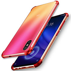 Coque Ultra Slim Silicone Souple Transparente pour Xiaomi Mi 8 Screen Fingerprint Edition Rouge