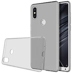 Coque Ultra Slim Silicone Souple Transparente pour Xiaomi Mi Mix 2S Gris