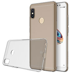 Coque Ultra Slim Silicone Souple Transparente pour Xiaomi Redmi Note 5 AI Dual Camera Gris