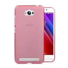 Coque Ultra Slim TPU Souple Transparente pour Asus Zenfone Max ZC550KL Rose