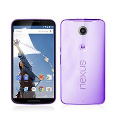 Coque Ultra Slim TPU Souple Transparente pour Google Nexus 6 Violet
