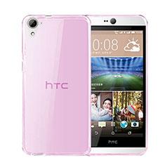 Coque Ultra Slim TPU Souple Transparente pour HTC Desire 826 826T 826W Rose