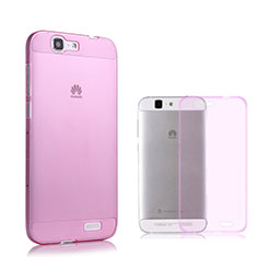 Coque Ultra Slim TPU Souple Transparente pour Huawei Ascend G7 Rose