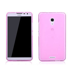 Coque Ultra Slim TPU Souple Transparente pour Huawei Ascend Mate 2 Rose