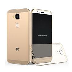 Coque Ultra Slim TPU Souple Transparente pour Huawei G7 Plus Or