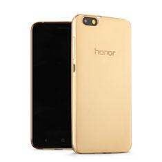Coque Ultra Slim TPU Souple Transparente pour Huawei Honor 4X Or