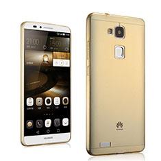 Coque Ultra Slim TPU Souple Transparente pour Huawei Mate 7 Or