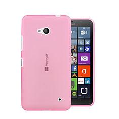 Coque Ultra Slim TPU Souple Transparente pour Microsoft Lumia 640 Rose