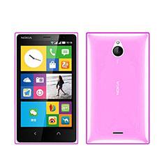 Coque Ultra Slim TPU Souple Transparente pour Nokia X2 Dual Sim Rose