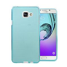 Coque Ultra Slim TPU Souple Transparente pour Samsung Galaxy A7 (2016) A7100 Bleu
