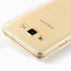 Coque Ultra Slim TPU Souple Transparente pour Samsung Galaxy A7 SM-A700 Or