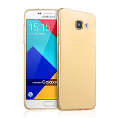 Coque Ultra Slim TPU Souple Transparente pour Samsung Galaxy A9 Pro (2016) SM-A9100 Or