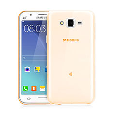 Coque Ultra Slim TPU Souple Transparente pour Samsung Galaxy J3 Or