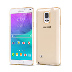 Coque Ultra Slim TPU Souple Transparente pour Samsung Galaxy Note 4 Duos N9100 Dual SIM Or