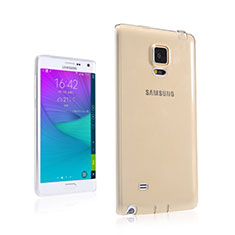 Coque Ultra Slim TPU Souple Transparente pour Samsung Galaxy Note Edge SM-N915F Or