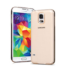 Coque Ultra Slim TPU Souple Transparente pour Samsung Galaxy S5 Duos Plus Or