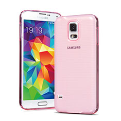 Coque Ultra Slim TPU Souple Transparente pour Samsung Galaxy S5 G900F G903F Rose