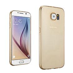 Coque Ultra Slim TPU Souple Transparente pour Samsung Galaxy S6 Duos SM-G920F G9200 Or