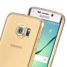 Coque Ultra Slim TPU Souple Transparente pour Samsung Galaxy S6 Edge SM-G925 Or