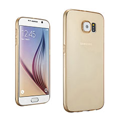 Coque Ultra Slim TPU Souple Transparente pour Samsung Galaxy S6 SM-G920 Or