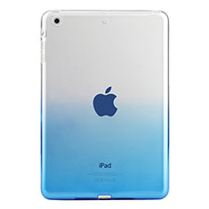 Coque Ultra Slim Transparente Souple Degrade pour Apple iPad Mini 3 Bleu