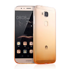 Coque Ultra Slim Transparente Souple Degrade pour Huawei GX8 Jaune