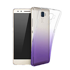 Coque Ultra Slim Transparente Souple Degrade pour Huawei Honor 5C Violet