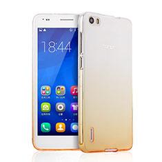 Coque Ultra Slim Transparente Souple Degrade pour Huawei Honor 6 Jaune
