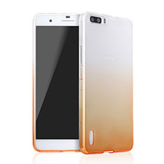 Coque Ultra Slim Transparente Souple Degrade pour Huawei Honor 6 Plus Jaune