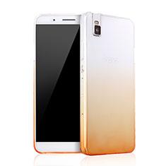 Coque Ultra Slim Transparente Souple Degrade pour Huawei Honor 7i shot X Jaune