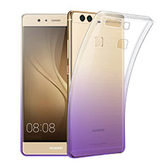 Coque Ultra Slim Transparente Souple Degrade pour Huawei P9 Plus Violet