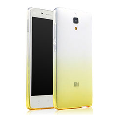 Coque Ultra Slim Transparente Souple Degrade pour Xiaomi Mi 4 Jaune