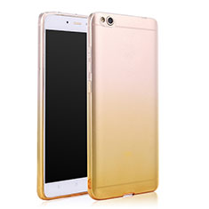 Coque Ultra Slim Transparente Souple Degrade pour Xiaomi Mi 5C Jaune