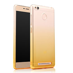 Coque Ultra Slim Transparente Souple Degrade pour Xiaomi Redmi 3S Prime Jaune