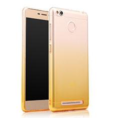 Coque Ultra Slim Transparente Souple Degrade pour Xiaomi Redmi 3X Jaune