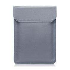 Double Pochette Housse Cuir L01 pour Huawei Honor MagicBook 15 Gris
