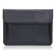 Double Pochette Housse Cuir L02 pour Huawei Honor MagicBook 15 Noir