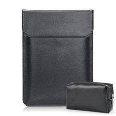 Double Pochette Housse Cuir L02 pour Samsung Galaxy Book Flex 13.3 NP930QCG Noir