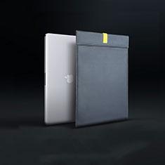 Double Pochette Housse Cuir L03 pour Apple MacBook Pro 15 pouces Retina Noir