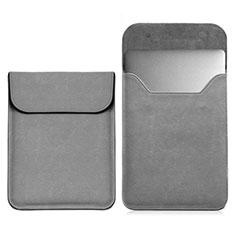 Double Pochette Housse Cuir L03 pour Samsung Galaxy Book Flex 13.3 NP930QCG Gris