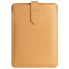 Double Pochette Housse Cuir L04 pour Apple MacBook Pro 15 pouces Retina Marron