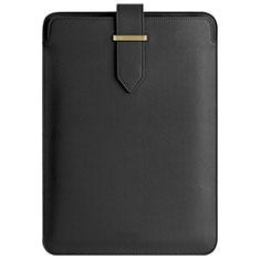 Double Pochette Housse Cuir L04 pour Apple MacBook Pro 15 pouces Retina Noir