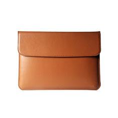 Double Pochette Housse Cuir L05 pour Apple MacBook Pro 15 pouces Retina Orange