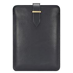 Double Pochette Housse Cuir L06 pour Huawei Matebook X Pro (2020) 13.9 Noir