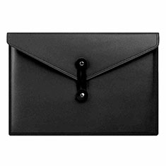 Double Pochette Housse Cuir L08 pour Apple MacBook Pro 15 pouces Retina Noir